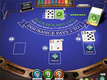 Blackjack van Unibet casino